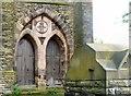 SJ9496 : St Stephen's doors by Gerald England