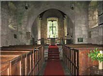 NU0625 : Interior of St Peter's Church, Chillingham, Northumberland by Derek Voller
