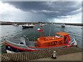 TF9143 : Lifeboat on the edge of a storm at Wells-Next-The-Sea by Richard Humphrey
