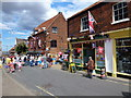 TF9143 : Shoppers and tourists in Staithe Street, Wells-Next-The-Sea by Richard Humphrey