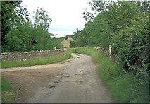 SP3114 : Purrants lane passes entrance to Leafield Pig Farm by Stuart Logan