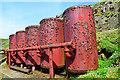 NT6599 : Rusting air tanks by John Allan