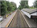 SJ3885 : Aigburth station from the footbridge by John S Turner