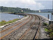 W7871 : Railway from Fota Station towards Cobh by David Hawgood