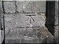SZ3295 : Cut bench mark with bolt on St Thomas's church by Brian Westlake