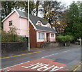 SS9895 : Pink house, Ystrad Road, Gelli by Jaggery