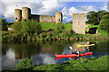 SJ0277 : Rhuddlan Castle - river traffic (2) by Mike Searle