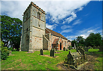 SJ5608 : St Andrew's church, Wroxeter by Mike Searle