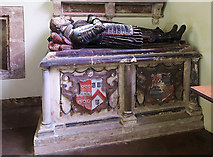 SJ5608 : St Andrew's church, Wroxeter - tomb-chest of John Berker by Mike Searle