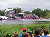 TQ2780 : Olympics triathlon Hyde Park - temporary spectator stand by David Hawgood