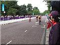 TQ2779 : Olympics women's triathlon Hyde Park - cycling by David Hawgood