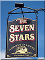 TQ7323 : The Seven Stars sign by Oast House Archive