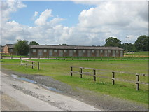 SE4248 : Stables at Wetherby Racecourse by peter robinson
