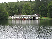 SE7170 : Castle Howard boat house from the Great Lake by J Whatley