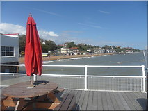 TM3034 : View from Felixstowe Pier across the bay by Ed of the South
