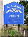 TM3679 : St.Andrew's Church sign by Geographer