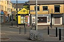 R3377 : Ennis - River Fergus Downstream Walk - Salthouse Lane, Sculpture, Parnell Street Car Park by Joseph Mischyshyn