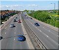 TQ2186 : North Circular Road heads towards Neasden by Jaggery