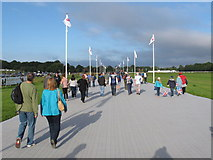 SU9477 : Walkway from Windsor racecourse to Eton Dorney Olympics course by David Hawgood
