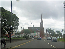 NS2059 : Largs church from the north by John Firth