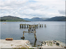 NS0767 : Old steamer pier, Port Bannatyne by Bob Jones