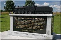 SK1814 : Railway Industry Memorial by Derek Bennett