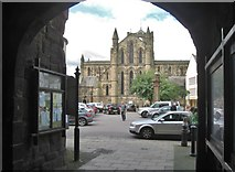 NY9364 : View of Hexham Abbey from the Gatehouse by Derek Voller