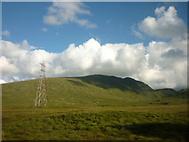 NN3847 : Power pylon and Creag Mhor (788m) by Karl and Ali