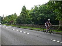 ST8488 : Cyclist on the A433 by Nigel Mykura