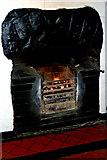 M2208 : The Burren - Ballyvaghan - R477 - Monk's Seafood Pub & Restaurant - Fireplace buring Turf by Joseph Mischyshyn