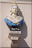 SY6879 : Queen Victoria's jubilee bust on the Fairhaven Hotel by Roger Davies