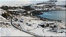 NG3864 : The A855 at Uig in winter by Uilleam Donnachaidh
