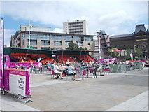 SE2934 : London 2012 - Millennium Square by Betty Longbottom
