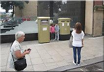 SE2933 : Gold Post Boxes, The Headrow / Cookridge Street, Leeds (3) by Rich Tea