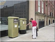 SE2933 : Gold Post Boxes, The Headrow / Cookridge Street, Leeds (4) by Rich Tea