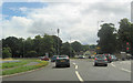 NY5229 : A6 roundabout on A66 by John Firth