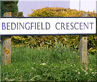 TM3876 : Bedingfield Crescent sign by Adrian Cable