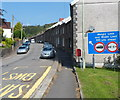 ST0895 : Restrictions ahead, Greenfield Terrace, Abercynon by Jaggery
