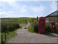 TV5595 : Birling Gap, Telephone Kiosk and Path to Beachy Head by David Dixon