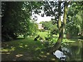 TL7835 : Lakeside view, Hedingham Castle Grounds by Derek Voller