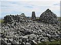 NY6055 : Cairn, trig point and shelter on the summit of Cold Fell by Mike Quinn