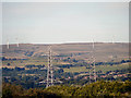 SD8318 : View of Scout Moor Wind Farm from Elton Reservoir (3) by David Dixon