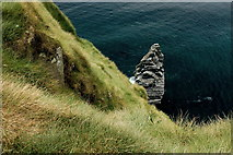 R0392 : Cliffs of Moher - View to West from Upper End of NW Path along Cliffs by Joseph Mischyshyn