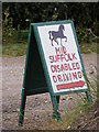 TM4366 : Mid Suffolk Disabled Driving sign by Geographer