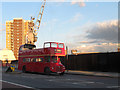 TQ3777 : Open-top bus on Creek Bridge by Stephen Craven