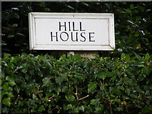 TM3876 : Hill House sign by Adrian Cable