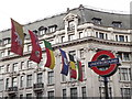 TQ2981 : National Flags Over Oxford Circus by Colin Smith
