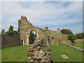 TQ8209 : Remains of the church in Hastings Castle by Stephen Craven