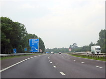 SU2913 : M27 Motorway Approaching Junction 1 Westbound by Roy Hughes