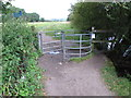 SU8686 : Kissing gate from Marlow Rugby Club on towpath by David Hawgood